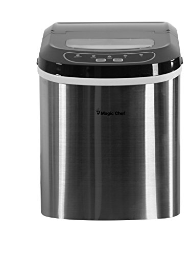 #1 Best - Magic Chef MCIM2ST 27 lb Ice Maker Stainless Steel
