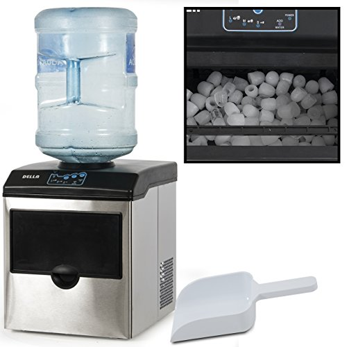 DELLA© Stainless Steel Water Dispenser w/ Built-In Ice Maker Machine Counter Portable, 40-Pound