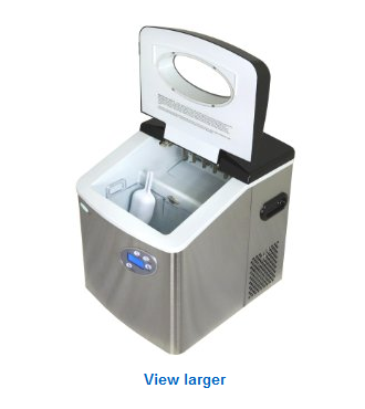 Newair AI 215SS Stainless Steel 50 Lb. Portable Ice Maker