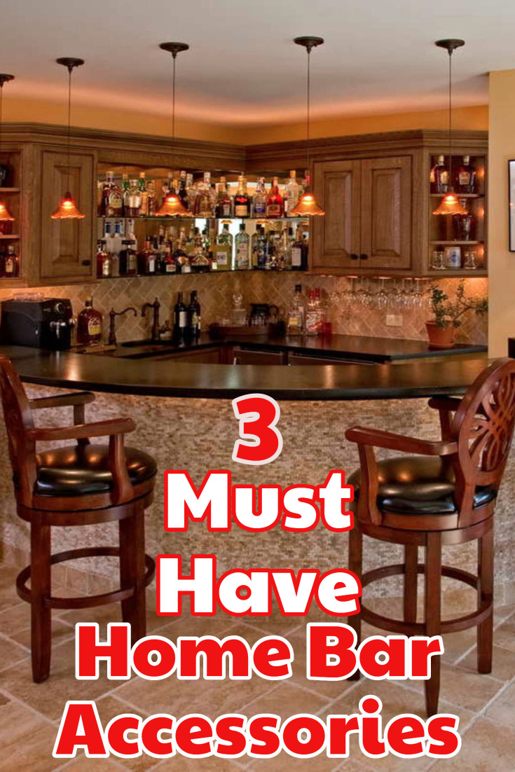 DIY Home Bar: The 3 Accessories you MUST HAVE for your DIY basement bar or home bar set up.